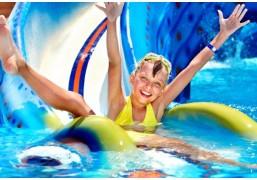 Неограниченное посещение аквапарка и банного комплекса для 1 взрослого и 1 ребёнка