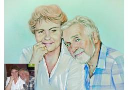 Портрет пары в карандаше