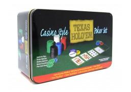 Набор для покера 200 фишек (в жестяной коробке)