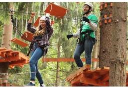 Прохождение верёвочного парка (6 маршрутов для двоих участников)