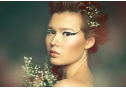 Креативный макияж и укладка